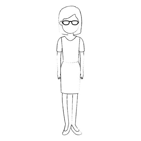 Beautiful woman avatar character vector illustration design 向量圖像