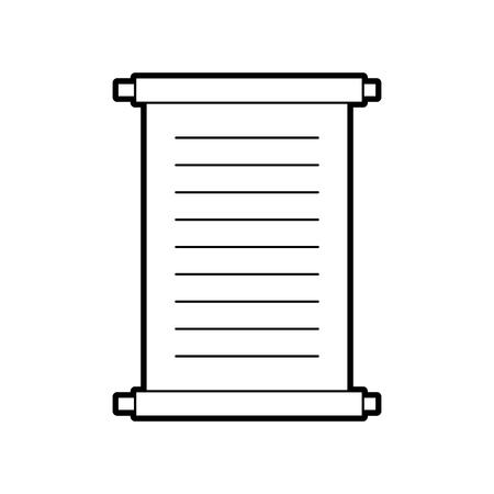파피루스 스크롤 격리 된 아이콘 벡터 일러스트 디자인