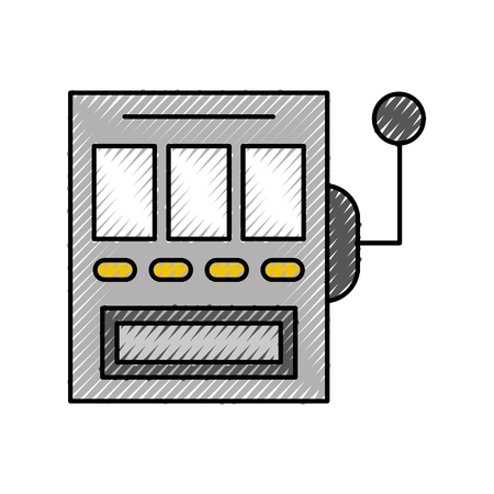 slot machine isolated icon vector illustration design