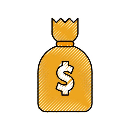 Money bag isolated icon vector illustration design Ilustração