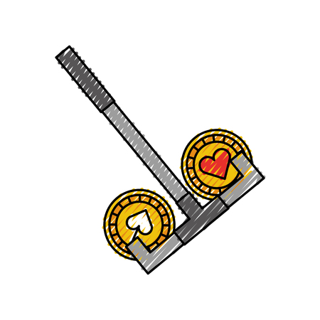 casino chips with Casino picker vector illustration design Illustration