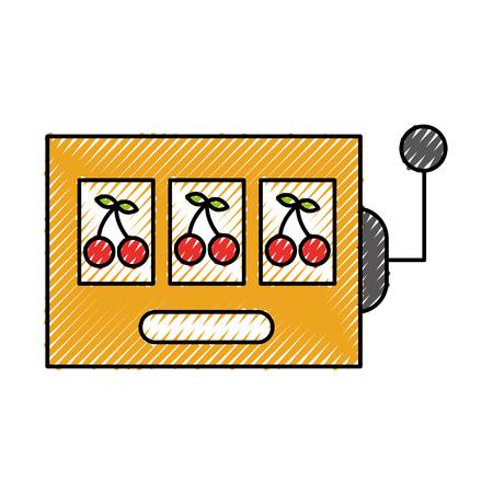 Slot machine isolated icon vector illustration design