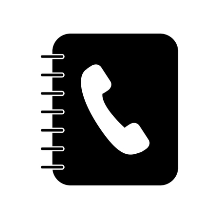 phone agenda isolated icon vector illustration design