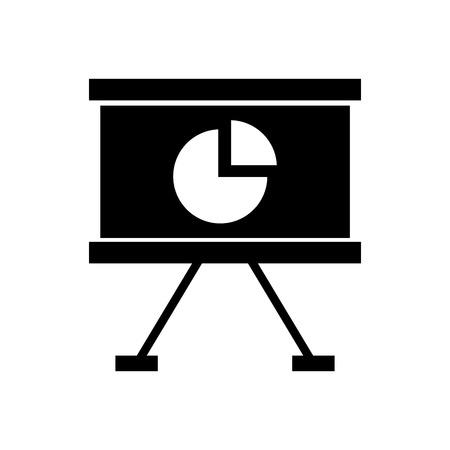 paper board with statistics vector illustration design