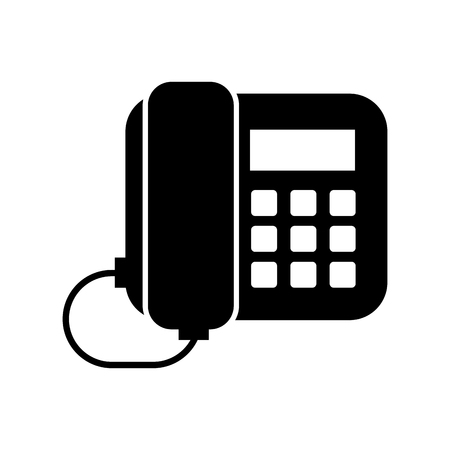 office telephone isolated icon vector illustration design