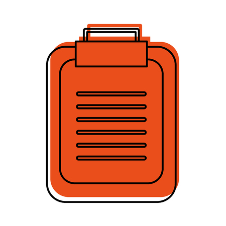 paper clipboard isolated icon vector illustration design Stock Vector - 94922133