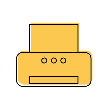 office printer isolated icon vector illustration design Stock Illustratie