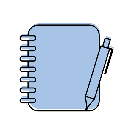notebook with office pen isolated icon vector illustration design