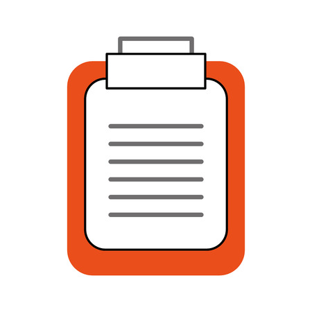 paper clipboard isolated icon vector illustration design Stock Vector - 94921771