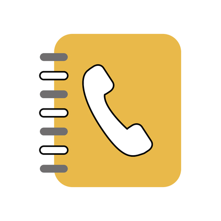 phone agend isolated icon vector illustration design  イラスト・ベクター素材