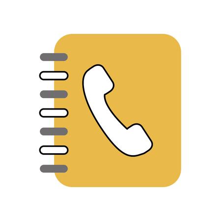 telefoon agend geïsoleerd pictogram vector illustratie ontwerp