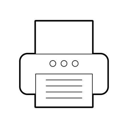 office printer isolated icon vector illustration design Illustration