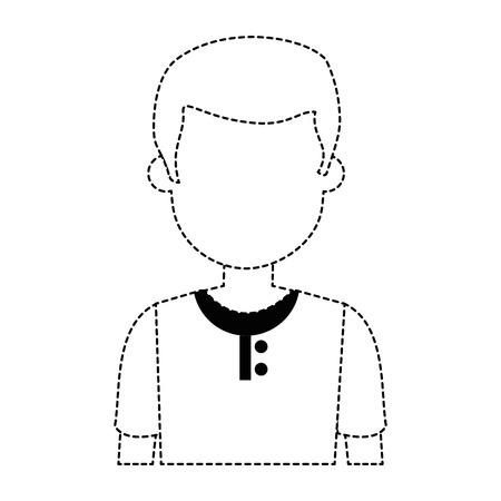 젊은 남자 아바타 캐릭터 벡터 일러스트 디자인 스톡 콘텐츠 - 94940221