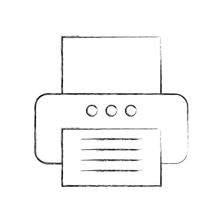 Ontwerp van de het pictogram vectorillustratie van de bureauprinter het geïsoleerde