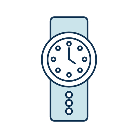 Handle time clock isolated icon vector illustration design
