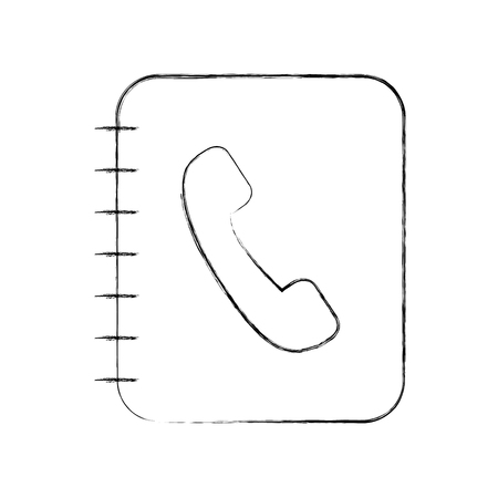phone agend isolated icon vector illustration design Ilustração