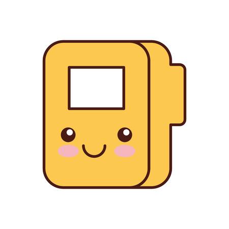 folder documents character vector illustration design