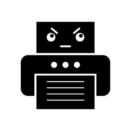 office printer  character vector illustration design Illustration