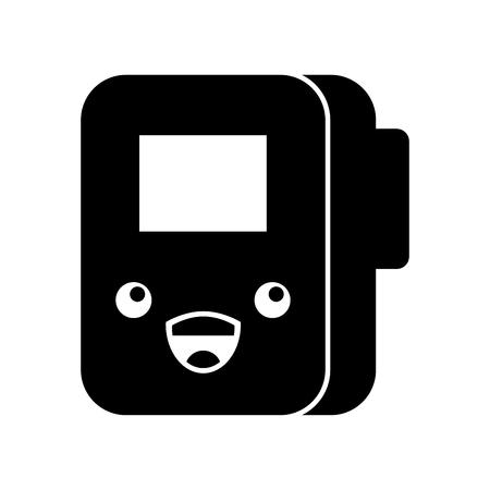 Folder documents kawaii character vector illustration design Illustration