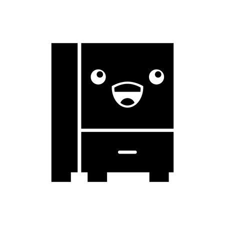 Progettazione dell'illustrazione di vettore dell'icona isolata cassetto dell'ufficio Archivio Fotografico - 94928253