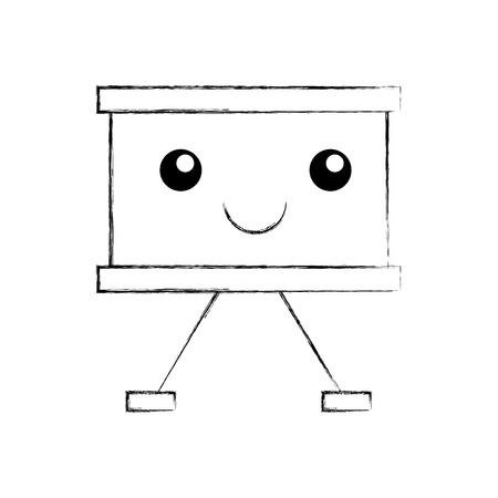 Paper board kawaii character vector illustration design Illustration