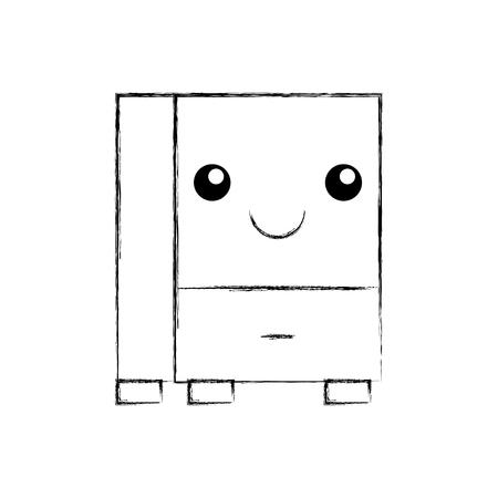 Progettazione dell'illustrazione di vettore dell'icona isolata cassetto dell'ufficio Archivio Fotografico - 94927597