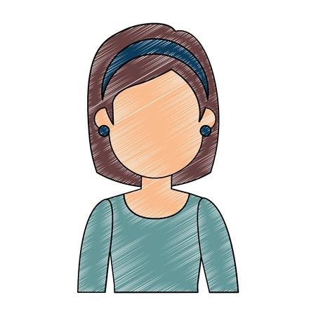 beautiful woman avatar character vector illustration design Stok Fotoğraf - 94931963