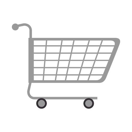 쇼핑 카트 격리 된 아이콘 벡터 일러스트 디자인