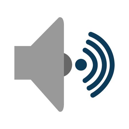 speaker audio isolated icon vector illustration design Stock Illustratie