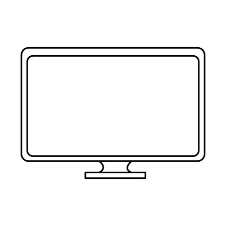 monitor computer geïsoleerd pictogram vector illustratieontwerp