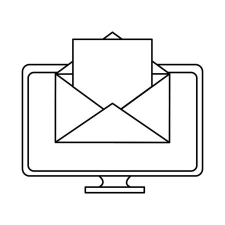 monitor computer isolated icon vector illustration design