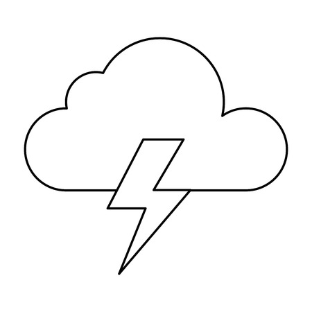 Weather cloud rainy with ray vector illustration design. Ilustrace
