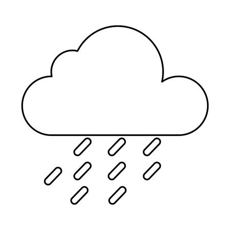 weather cloud rainy icon vector illustration design Ilustrace