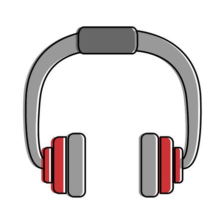earphones sound isolated icon vector illustration design