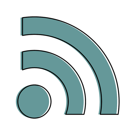 Internet waves signal icon