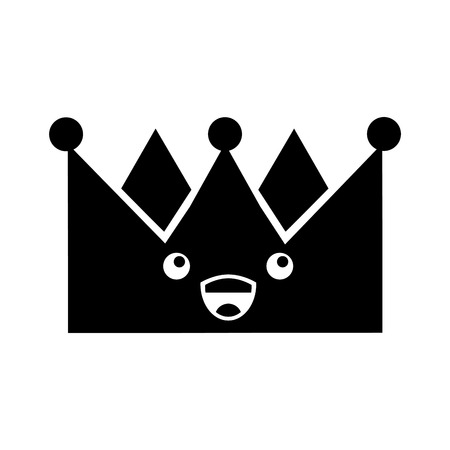 king crown kawaii character vector illustration design Ilustracja