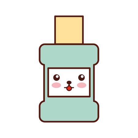 mouthwash bottle kawaii character vector illustration design