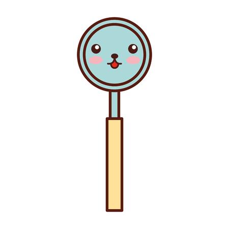 Dentistry mirror kawaii character vector illustration design