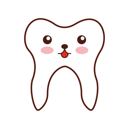 Human tooth kawaii character vector illustration design Illusztráció