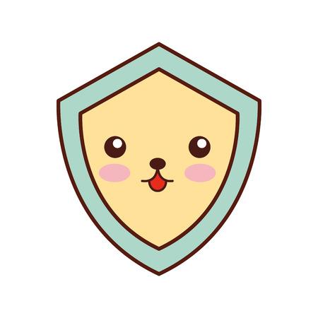 shield guard  character vector illustration design Ilustração