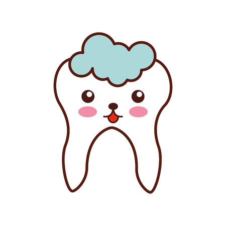 Human tooth with toothpaste  character vector illustration design Stock Vector - 94935742