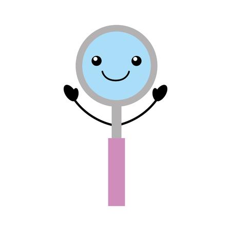 Diseño del ejemplo del vector del carácter de kawaii del espejo de la odontología Foto de archivo - 94935276