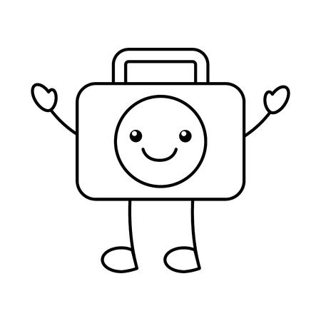 Medical kit character vector illustration design. Ilustracja