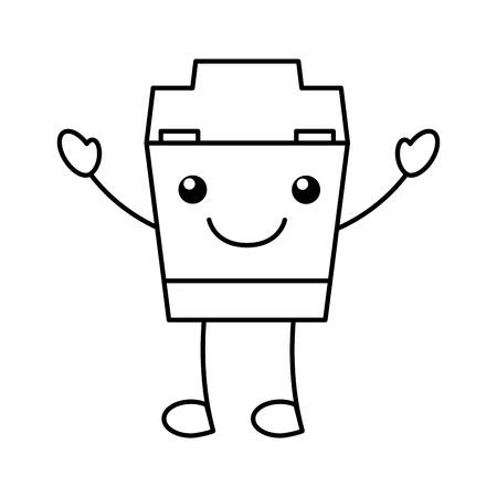 Dental Floss character vector illustration design
