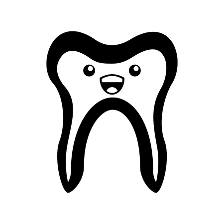 Human tooth character vector illustration design Ilustracja