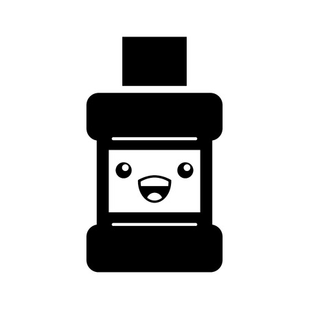 mouthwash bottle character vector illustration design