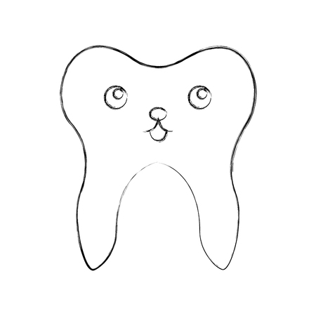 Human tooth  character vector illustration design
