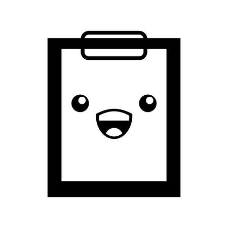 clipboard paper character vector illustration design