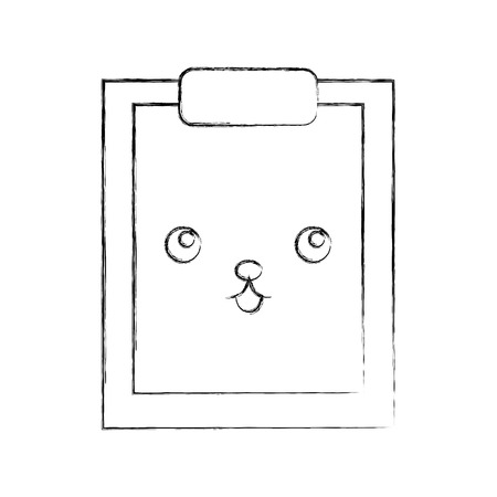 clipboard paper character vector illustration design