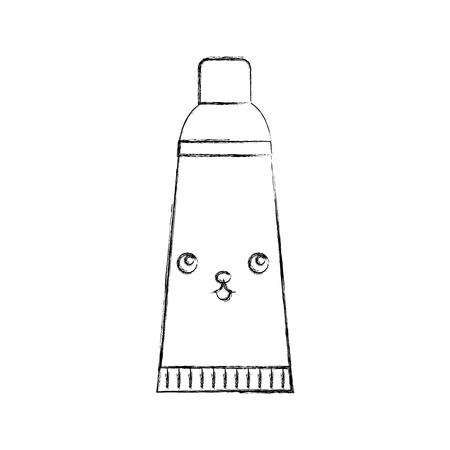 dental toothpaste character vector illustration design